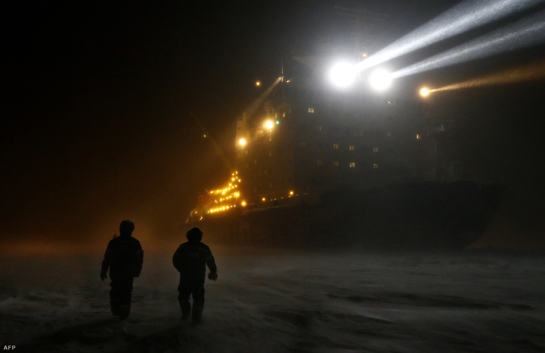 A Gazprom jégtörője az Ob torkolatán 2015-ben