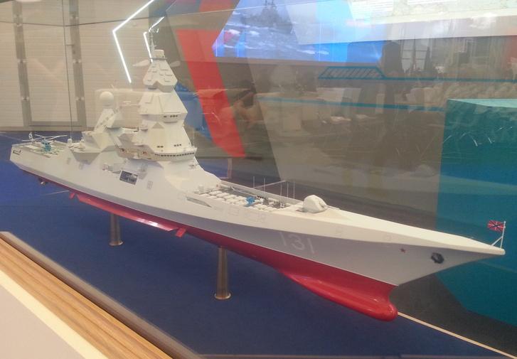 Egy Lider osztályú hajó makettje