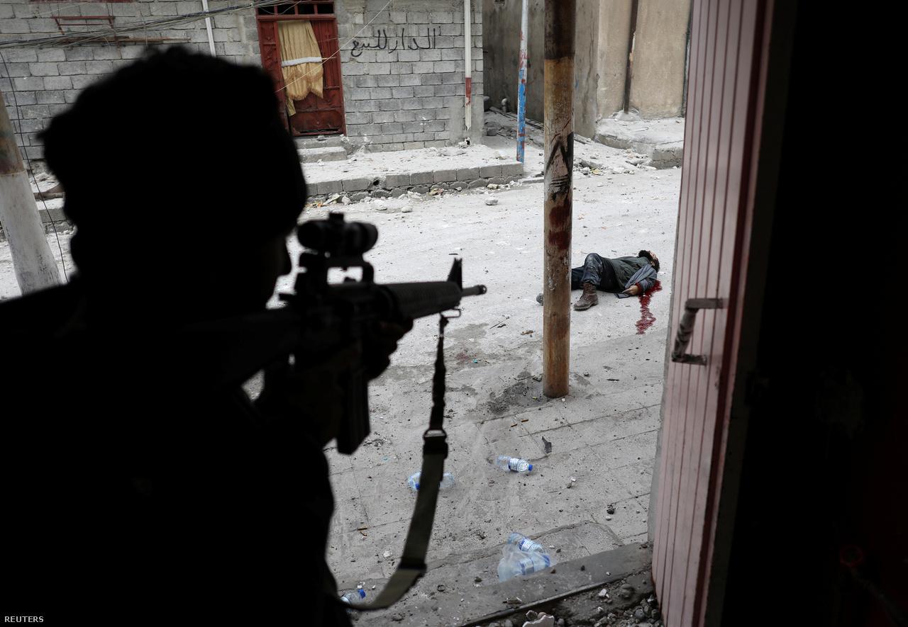 A hír kategória harmadik díját Goran Tomasevic képe kapta. Az iraki speciális erők egyik katonája látható rajta néhány pillanattal azután, hogy agyonlőtt egy feltételezett öngyilkos merénylőt Moszul ostromakor.