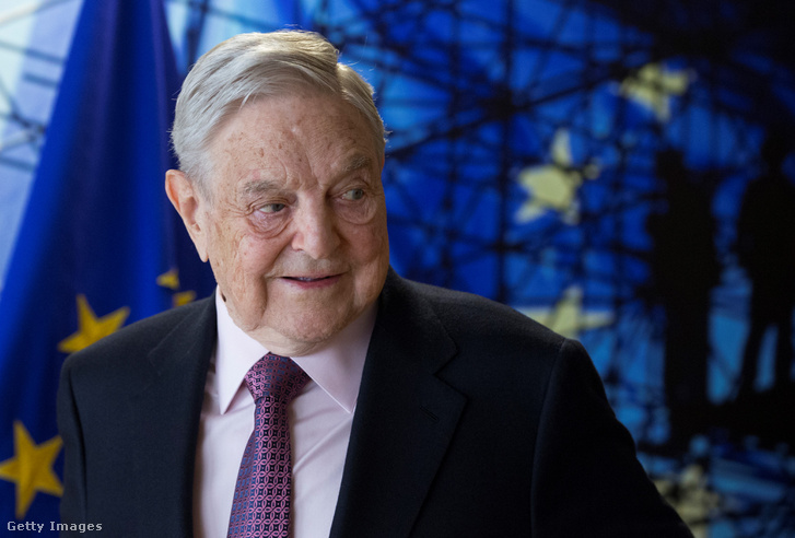 Soros György Brüsszelben 2017 áprilisában