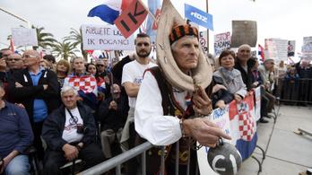 Tízezrek tiltakoztak a családon belüli erőszak tiltása ellen Horvátországban