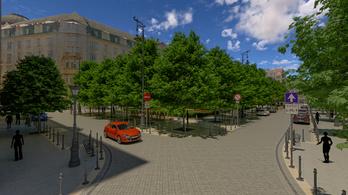 József nádor tér: utcai parkolók az új mélygarázs fölé