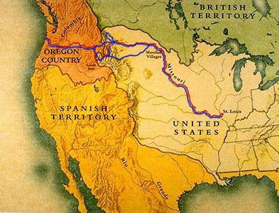 Lewis és Crak expedíciójának útja az ismeretlen nyugatra