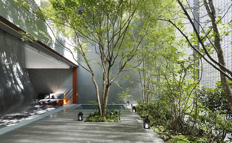 A 2012-ben tervezett, körülbelül 385 négyzetméteres ház Hiroshimában található