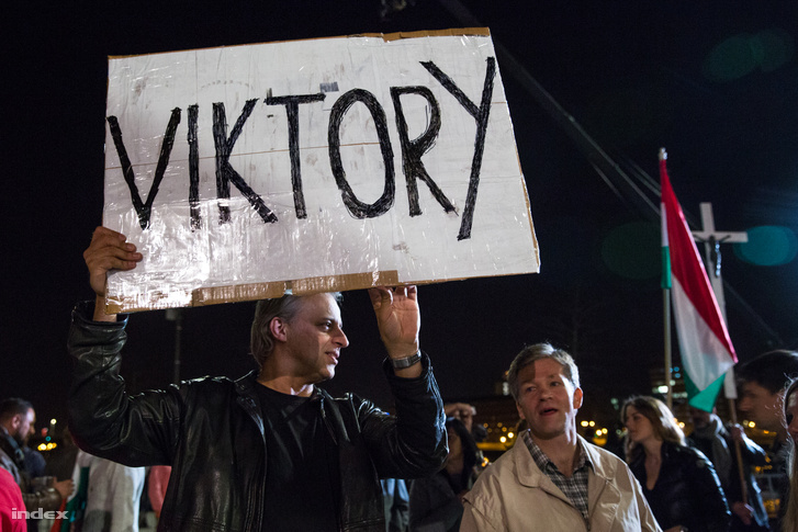 A Fidesz választási eredményváró rendezvénye a budapesti Bálnánál, 2018. április 8-án