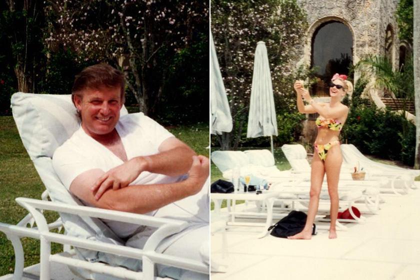 A modellnek képei is vannak azokból az időkből, melyek Trump nyaralójában készültek.