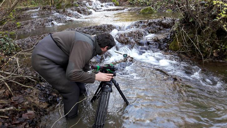 Mosonyi Szabolcs a Vad Balaton forgatása közben (forrás: Pannonia Entertainment)