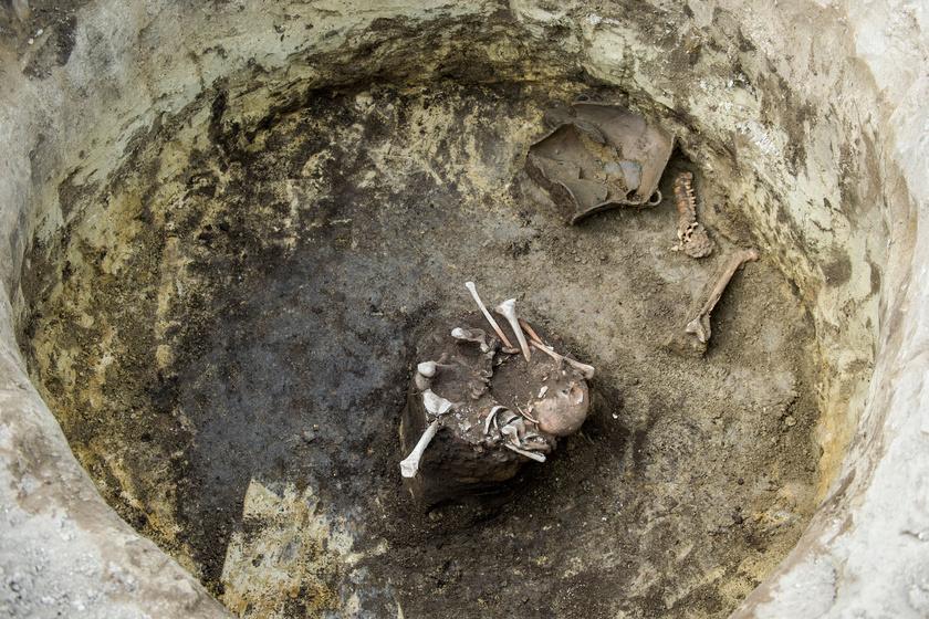 Az egyik hulladéktárolóban mintha kosárba vagy zsákba rakták volna az összetört emberi maradványokat, melyek mellett egy teljes lábat és egy koponyát is találtak.