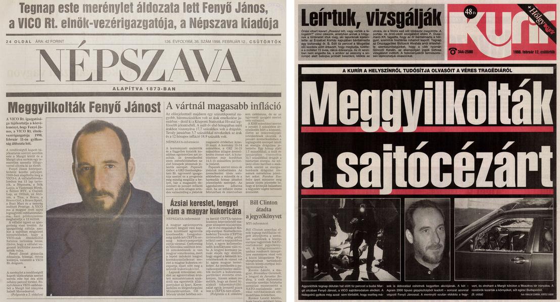 Címlapok a gyilkosság másnapján
