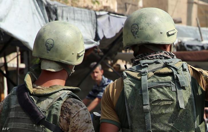 Orosz katonák Szíriában 2017 szeptemberében