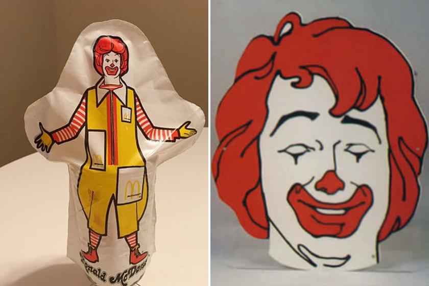 Ezek a Ronald McDonald-kesztyűbábok valószínűleg nem arattak osztatlan sikert. A jobbra látható bohócfej elég nyugtalanítóan nézett ki.