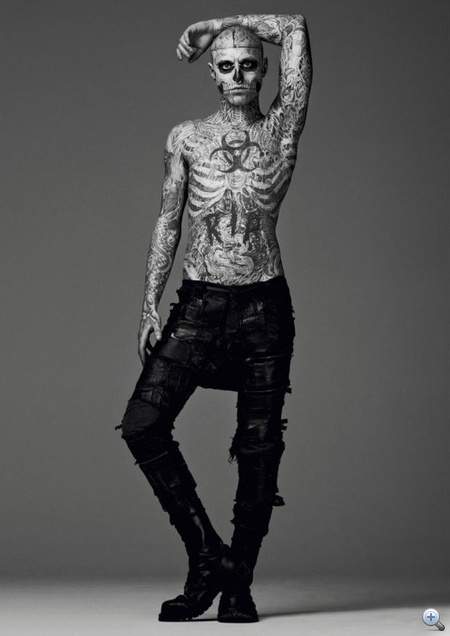 Mugler 2011-2012 ősz-tél, stylist: Nicola Formichetti, modell: Rick Genest