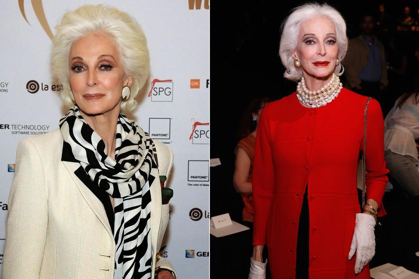 86 éves, ősz, és stílusosabb, mint a legtöbb fiatal - A félig magyar származású modell elképesztően nőies