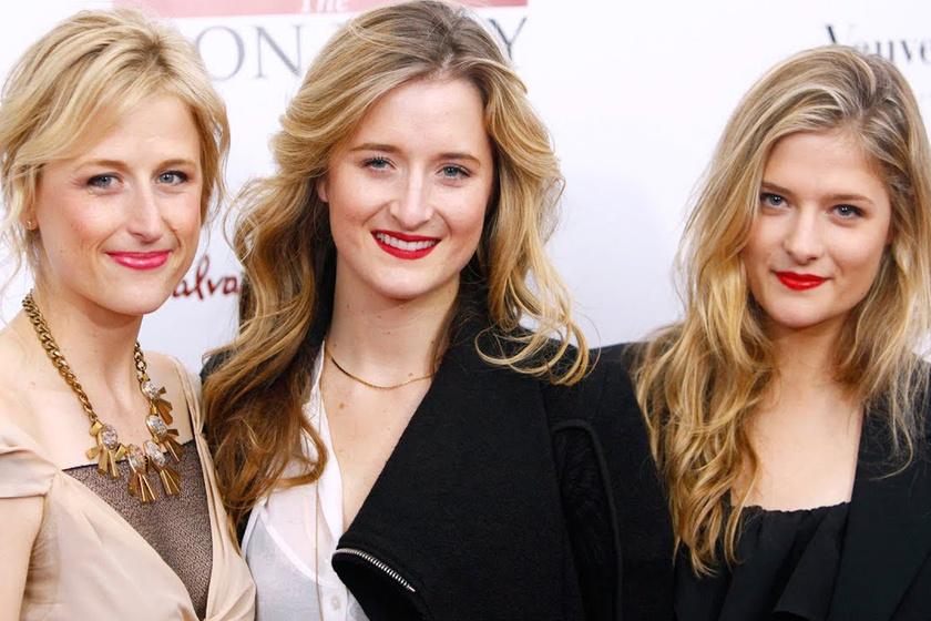 Balról jobbra: Mamie, Grace és Louisa Gummer