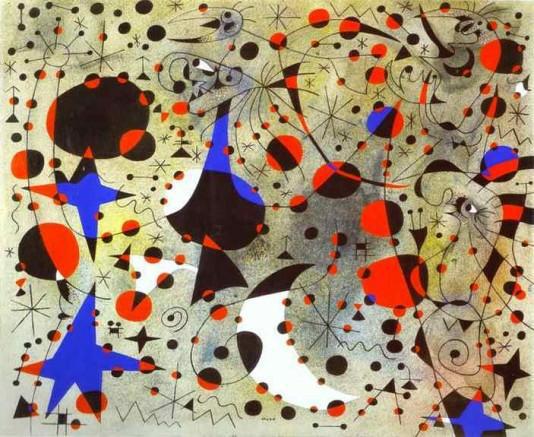 Joan Miro: A csalogány éneke éjfélkor - 1940