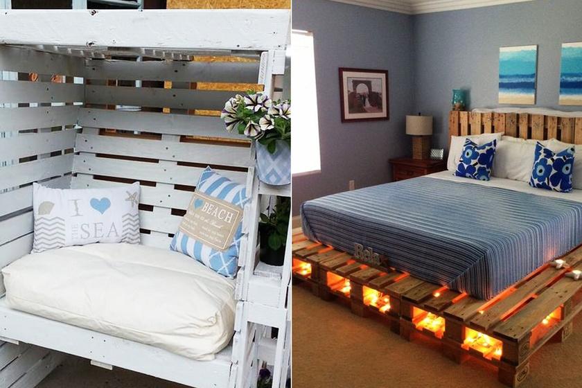 10 gyönyörű bútor raklapból: ennél olcsóbban nem lehet kihozni
