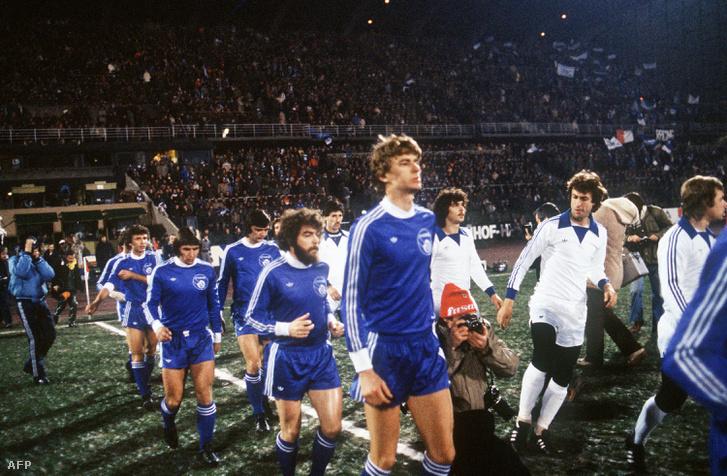 Arsene Wenger a Strasbourg csapatában 1978-ban