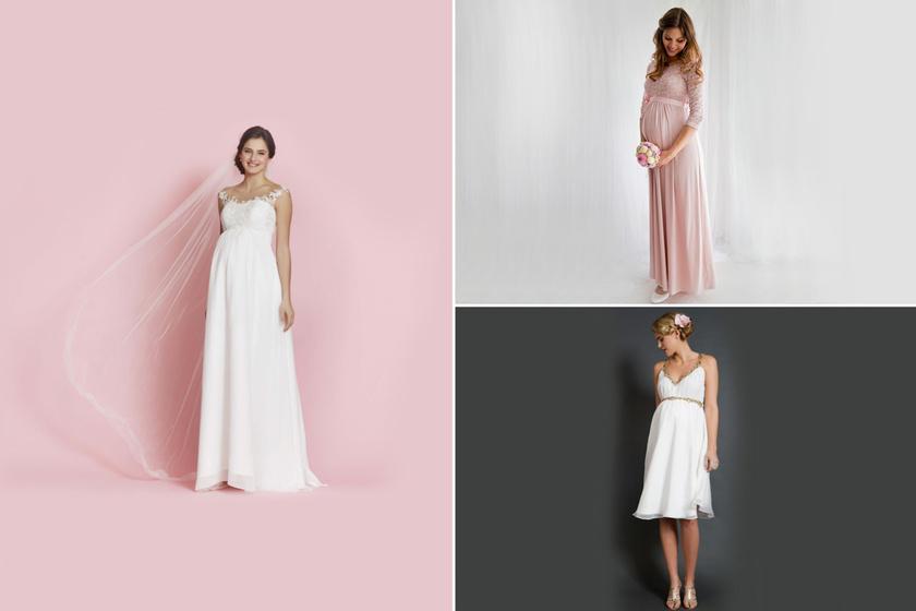 Meseszép esküvői ruhák kismamáknak, tavaszi-nyári esküvőkre: árral, elérhetőséggel