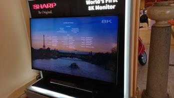 Szédítő árral érkezik a Sharp 8K tévéje