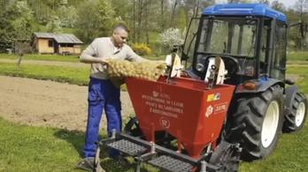 Beült a traktorba, és krumplit ültetett a szlovák kormányfő a találkozó helyett