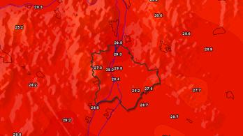 Megdőlt a fővárosi melegrekord