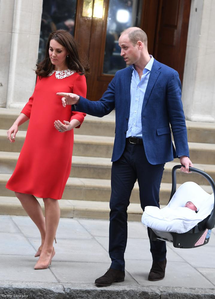 Katalin ugyanott adott életet a babának, ahol öt évvel ezelőtt júliusban György hercegnek, három éve májusban pedig Saroltának