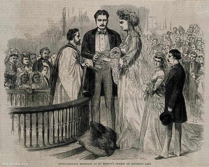 Martin van Buren és Anna Swan esküvője