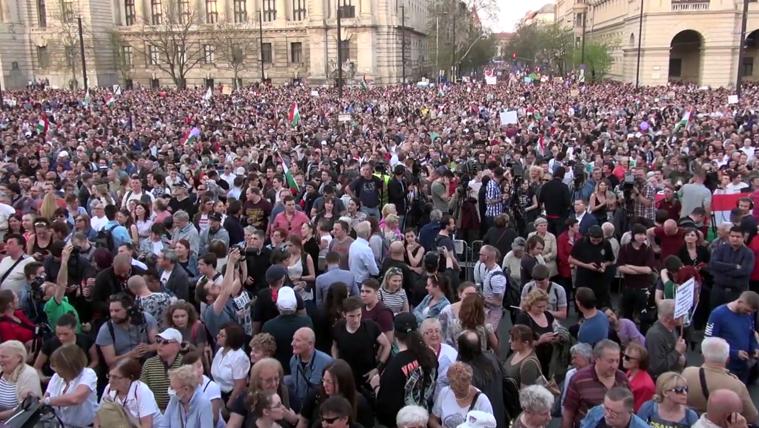 Élőben közvetítettük a Mi vagyunk a többség! tüntetést