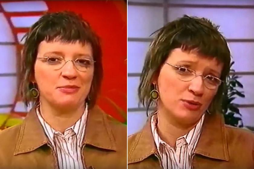 Balázsy Panna a Reggeli műsorvezetőjeként a 2000-es évek elején.