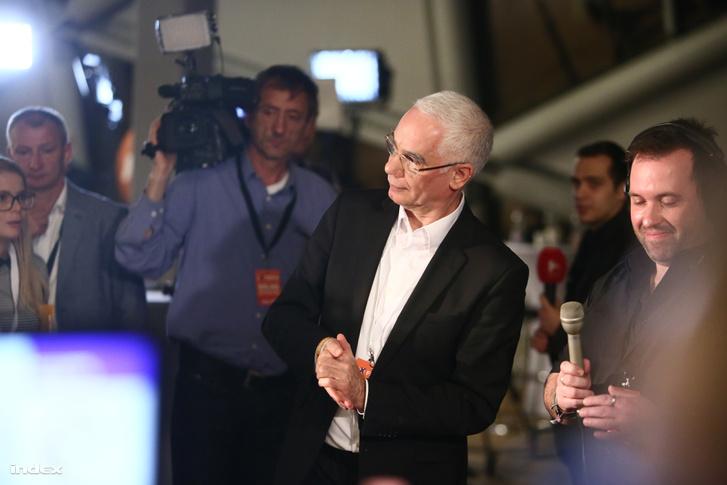 Balog Zoltán a Fidesz választási eredményváró rendezvényén a budapesti Bálnában, 2018. április 8-án.