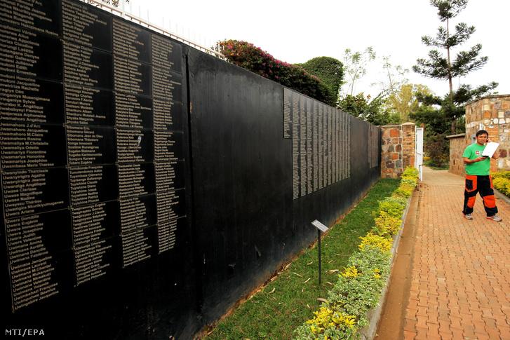 A ruandai népirtás áldozatainak emlékműve Kigaliban.