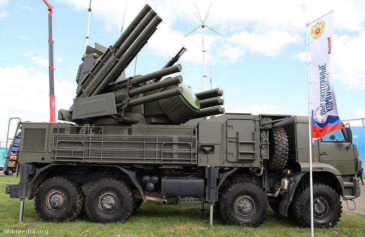 A Pantszir S-1-es légvédelmi rendszer