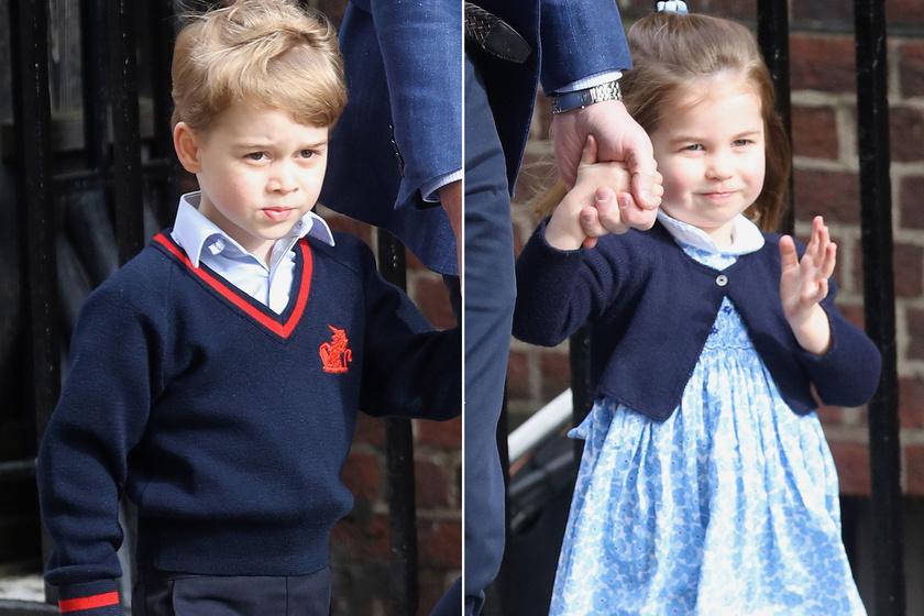 György herceg ilyen cukin kísérgette a húgát - Így imádja Charlotte-ot