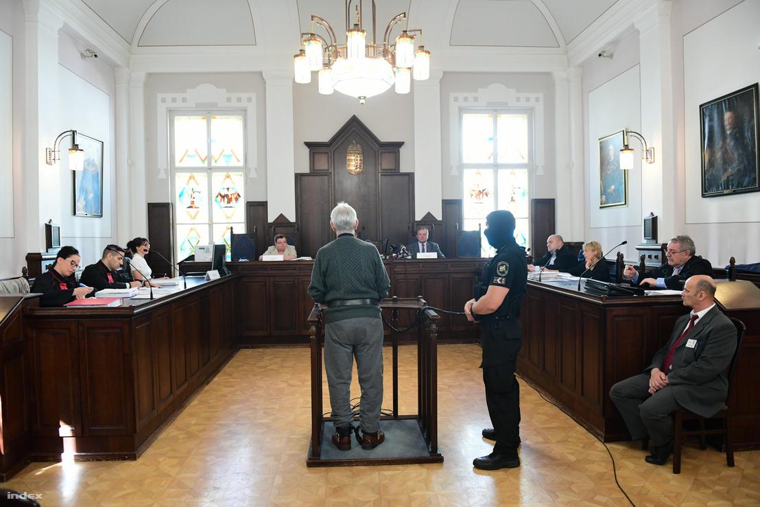 Győrkös István vádlott a tárgyalásán 2018 április 25-én.