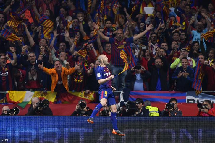 Andrés Iniesta a szombati kupadöntőn szenzációs gólt lőtt