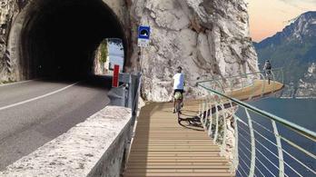 Lélegzetelállító lesz a Garda-tó lebegő bringaútjain tekerni
