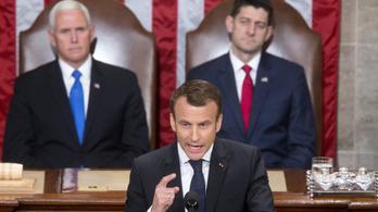 Macron környezetvédelemről, liberalizmusról beszélt Washingtonban