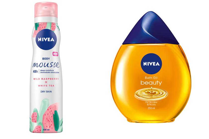 A Nivea vadmálnás, fehér teás testápoló habja édes illatfelhőbe burkol, az olajhabfürdő pedig intenzíven ápolja a bőrödet fürdés közben. Az első 1349, a második 1999 forint.