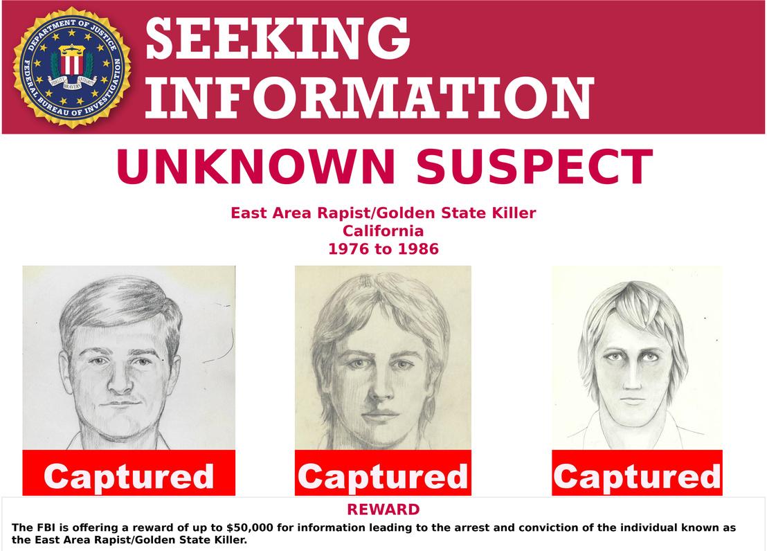Az FBI fantomképe a feltételezett gyilkosról
