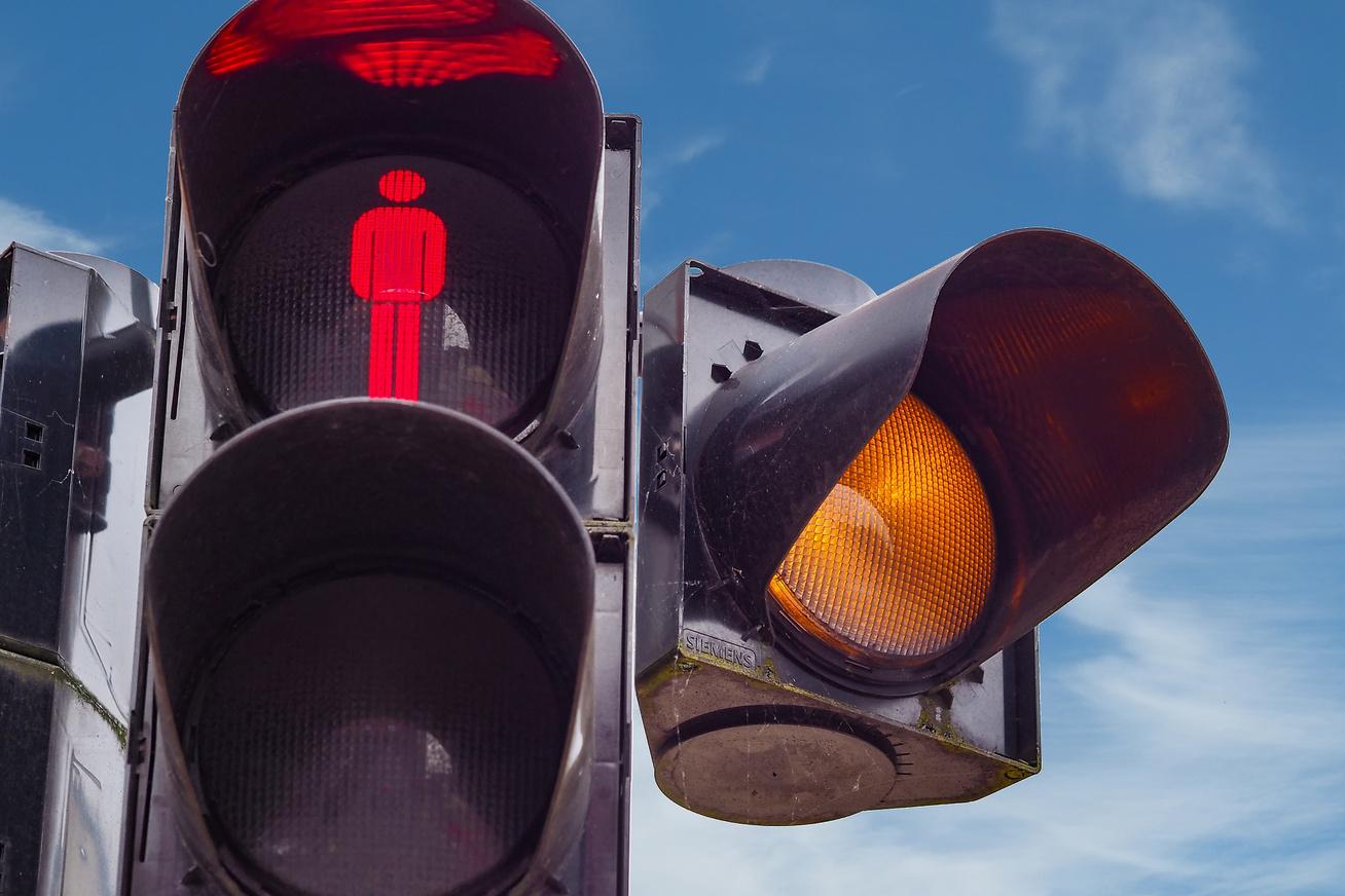 piros lampa