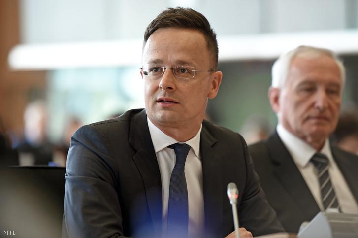 Szijjártó Péter Brüsszelben 2018. április 26-án