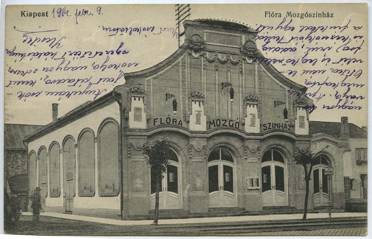 A kispesti vándormozis, özvegy Mutschenbacher Antalné 1909-ben határozta el, hogy állandó helyet keres vállalkozásának. Az egykor Üllői út 116. alatt álló épület helyét nehéz lenne ma megtalálni a sok egyforma paneltorony között, annyira legyalulták a hetvenes években a városrendezők a környéket. A kispestiek számára a 700 fős Flóra mozi a kultúra színvonalas közvetítője volt, mert a mozi mellett színielőadásokat is tartottak itt. Neve a negyvenes években Honvédra változott, majd visszakapta egy rövid időre eredeti nevét, ám az épületet ez már nem mentette meg. Nem sokkal később bezárták és kihasználatlanul árválkodott a villamos sínek mellett, mígnem a városrész szanálásakor ezt az épületet sem tartották megőrzendő értéknek.