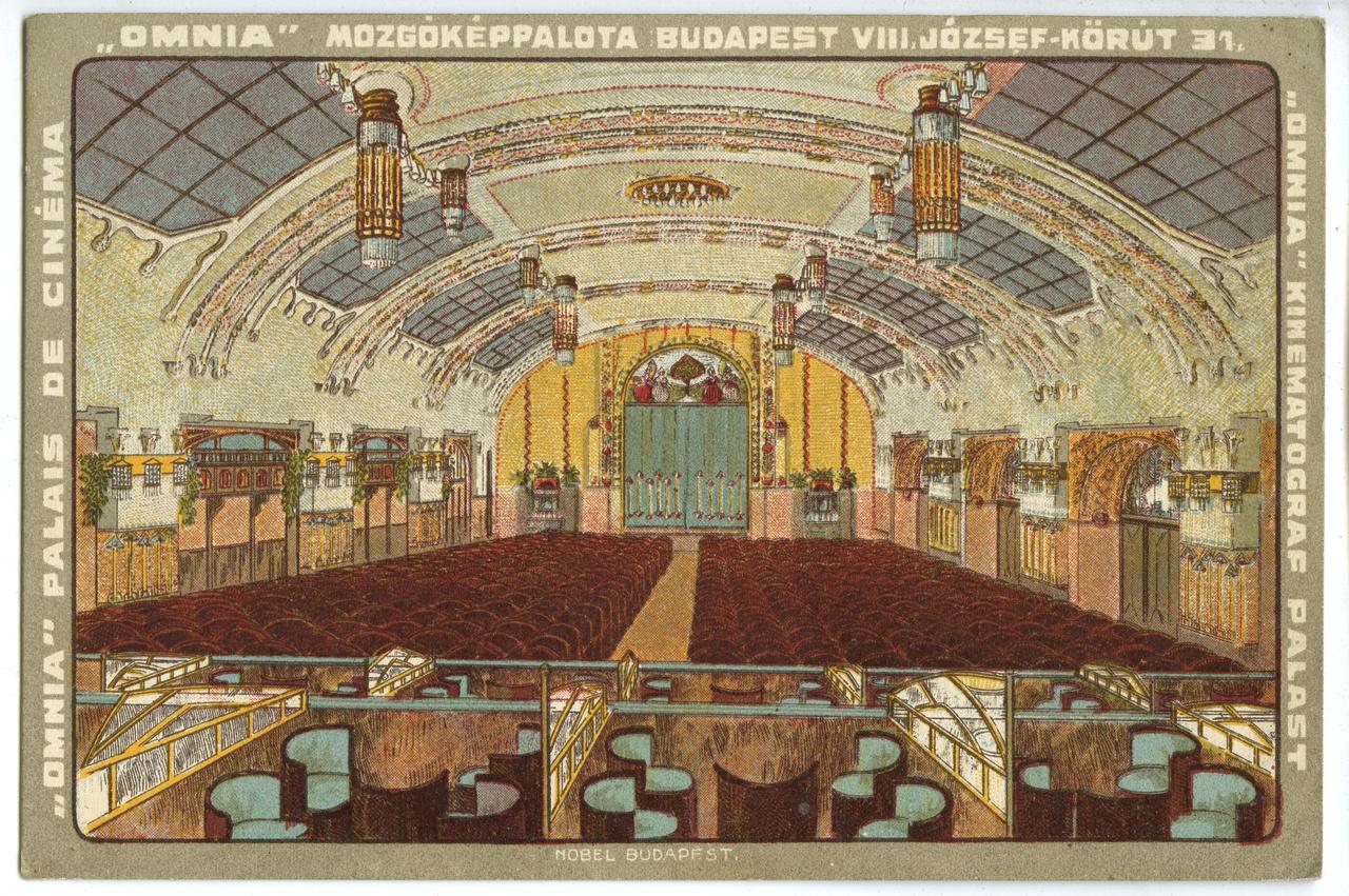 Az 1908-ban megnyílt Omnia Budapest egyik legszebb belső terű szecessziós belvárosi premiermozija volt. A VIII. kerületi Gutenberg-házban lévő mozi létezéséről viszonylag kevesen tudnak, pedig nézőtere még ma is viszonylag ugyanígy néz ki. Rengeteg ünnepélyes filmpremier helyszíne volt az Omnia, ráadásul még a háborút is épen megúszta. 514 főt befogadó nézőterét sok belvárosi színház megirigyelhette volna, igaz hatalmas méreteit, díszes bejáratait és előcsarnokait később elvesztette és azok helyén ma különböző üzlethelyiségek működnek. Utoljára Gutenberg Művelődési Otthon néven tartottak itt filmelőadásokat, ma pedig egy faluszínháznak tűnő társulat próbaterme lehet, előadásokat ugyanis sajnos nem rendeznek díszes termében.