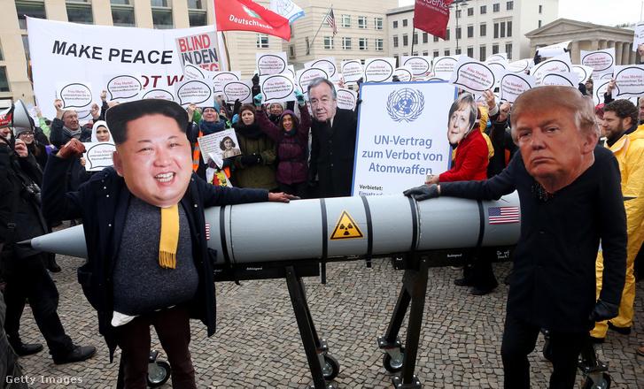 Atomfegyver-ellenes tüntetés Berlinben, 2017. november 18-án