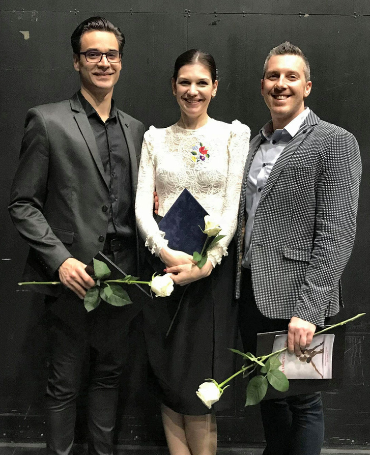 A Győri Balett három díjazottja: Jekli Zoltán, az Évad Legjobb Férfi Táncművésze, Velekei László az Évad Legjobb Alkotója díjban, Csepi Alexandra dramaturg pedig Fülöp Viktor Táncművészeti ösztöndíjban részesült