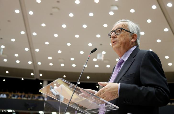 Jean-Claude Juncker Brüsszelber 2018. május 2-án