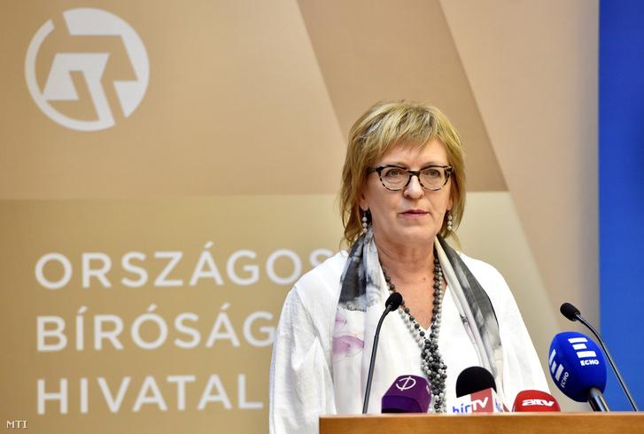 Handó Tünde a Magyar Igazságügyi Akadémián 2017. december 11-én.