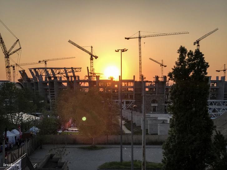 Az épülő Puskás Ferenc Stadion