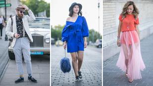 Így öltöztek a tavaszi hőségben a budapesti divathét vendégei