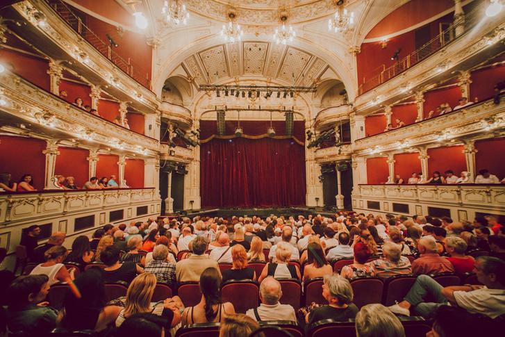 a Pécsi Nemzeti Színház nézőtere a 2017-es POSZT idején